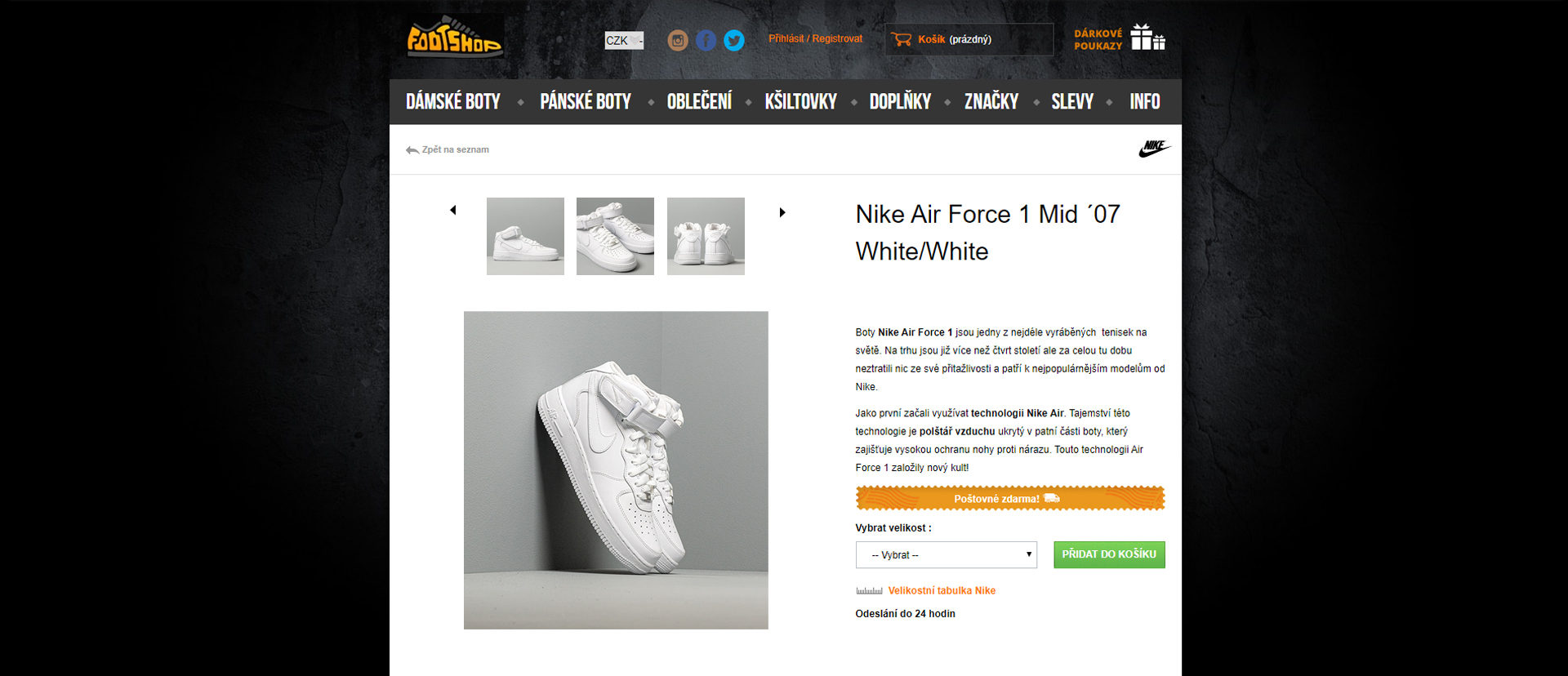 ecommerce website product page before redesign